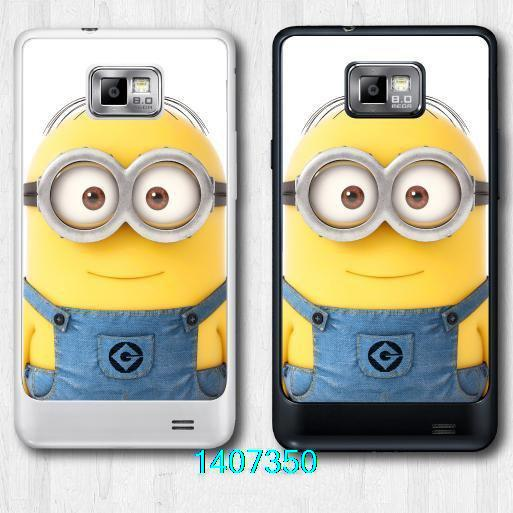 JiaHH Student Minion Protective Cover Case For Samsung Galaxy S2 I9100 (Black or Clear Side For Choice)(China (Mainland))