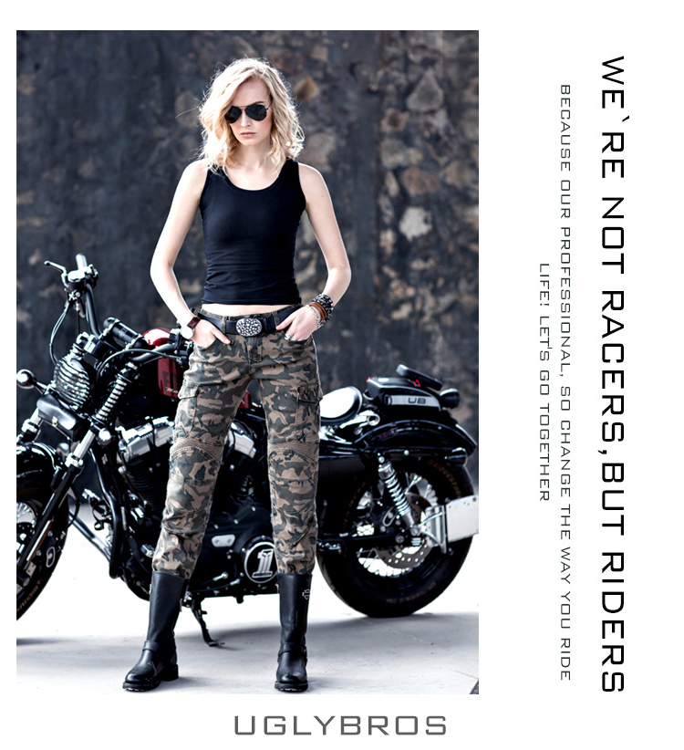 Фотография Uglybros MOTORPOOL UBS07 women jeans Riding a motorcycle jeans trousers