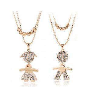 Popular accessories full rhinestone lilliputian necklace - 2660