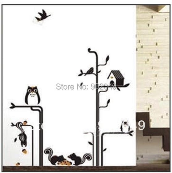Hot Sale 50x70cm Wall Decorations The Owl Birds 39 House