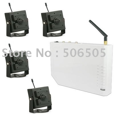 Гаджет  USB connected to computer 4 Channel real time  2.4GHZ CCD wireless camera None Безопасность и защита
