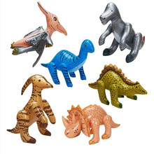 6 PCS/Set Jurassic Park Inflatable Dinosaur Inflated Dinosaur Model Stage Props Children Birthday Party Favor Theme Party supply(China (Mainland))