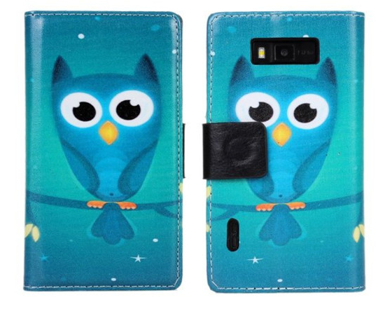 High Quality Lovely Owl Style Flip Wallet Leather Cover Case For LG Optimus L7 P700 P705 Free Shipping UPS DHL EMS HKPAM CPAM
