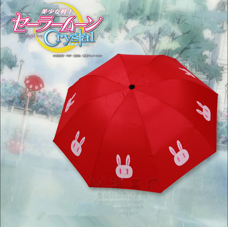 Hot New Sailor Moon Tsukino Usagi Cosplay Umbrella Animation Parasol Sunshade Acc Free Shipping(China (Mainland))