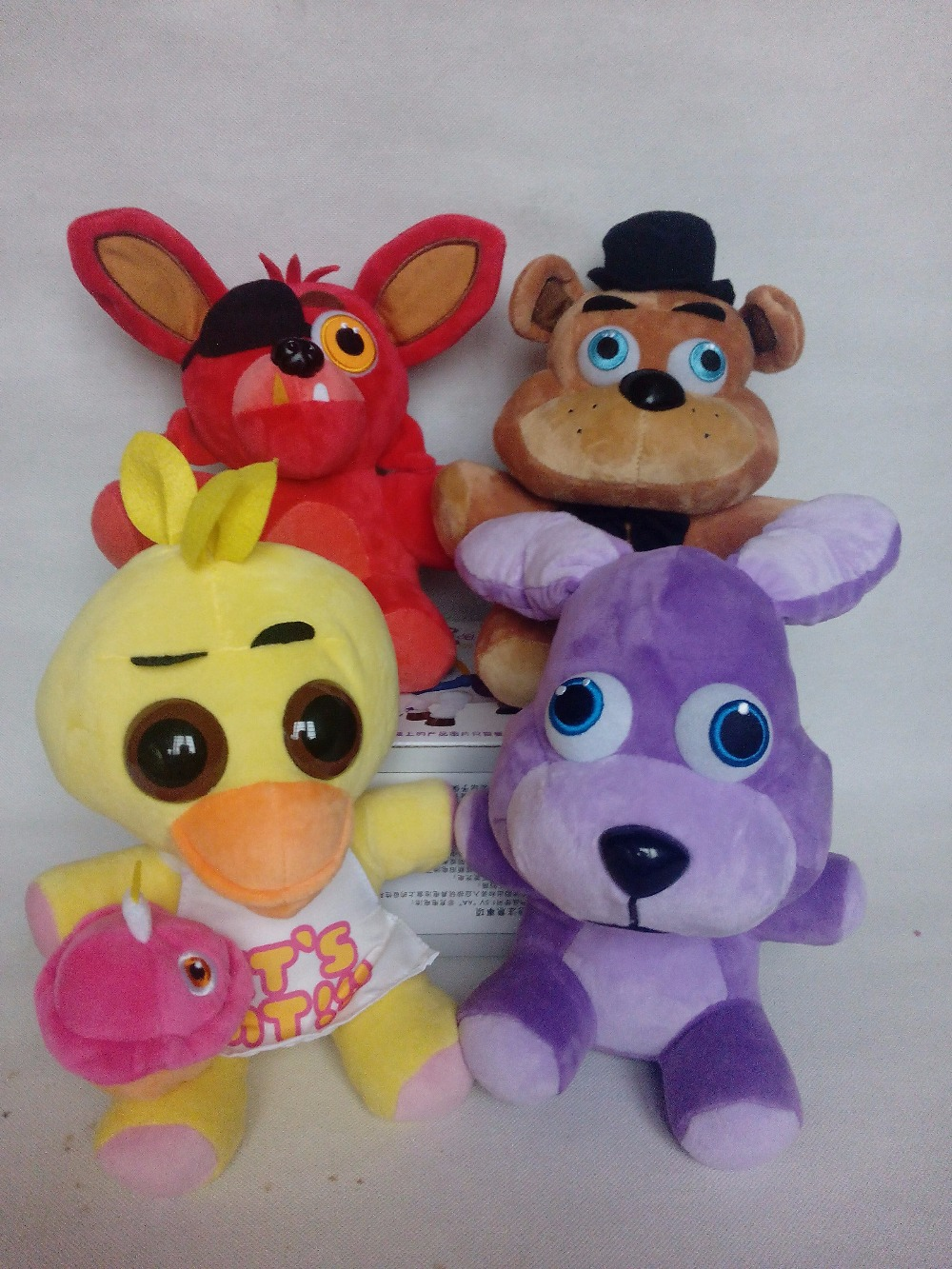 40pcs/lot 25cm FNAF Toygs five nights at freddy's 4 foxy bear toys plush dolls stuffed soft toys Wholesale!(China (Mainland))