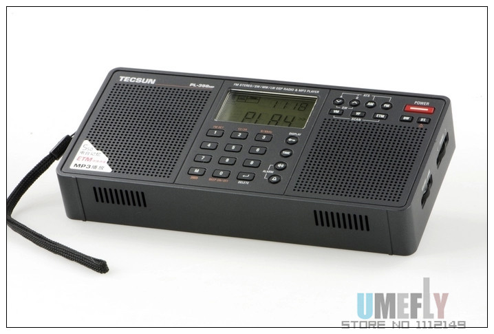2015 New Arrival Tecsun PL 398MP Portable Radio fm Stereo has MP3 Playback Function With SD