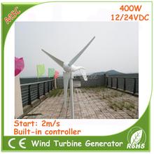400 Вт 2015 горячая распродажа ветрогенератор ветровых турбин комплекты с 3 шт. лезвия встроенный в 12 В 24 В автоматическое определение ветер контроллер CE FCC ISO