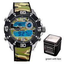 Relojes deportivos militares para hombre, relojes de cuarzo tipo BOAMIGO, relojes de pulsera digitales LED, relojes de pulsera impermeables para hombre(China)