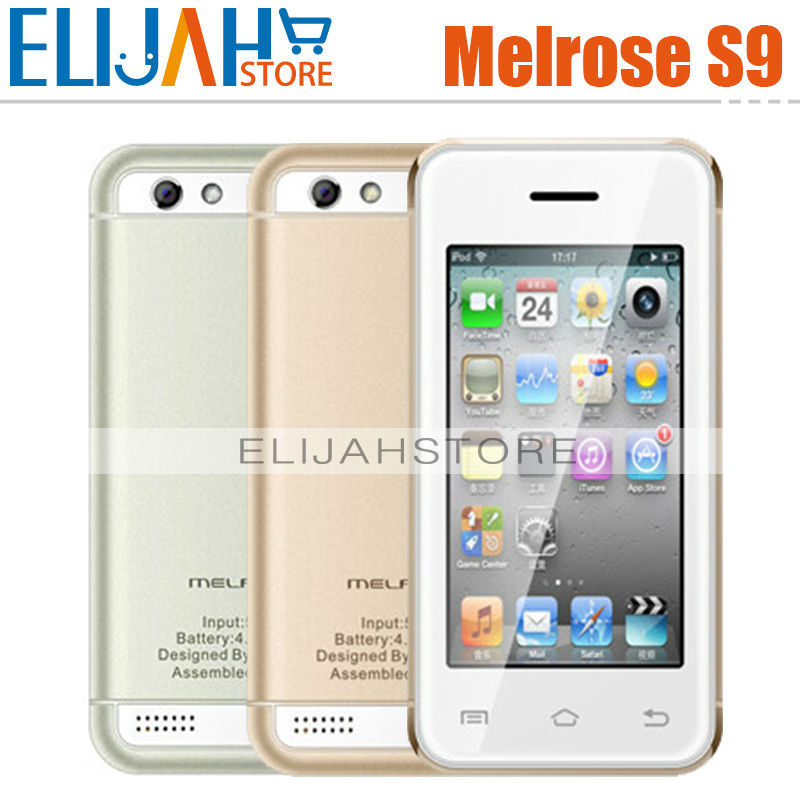 2015 Original Melrose S9 Ultra-thin Pocket Card phones Mini 3G Smartphone 2.4 Inch Android 4.4 MTK6572 Dual Core 1.2Ghz WIFI FM(China (Mainland))