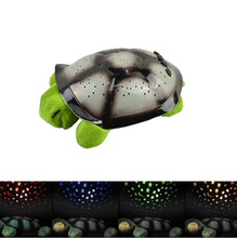 4 Colors Musical led Turtle Night Light Stars Constellation Lamp for Children gift comfortable lighting baby bedroom decoration(China (Mainland))