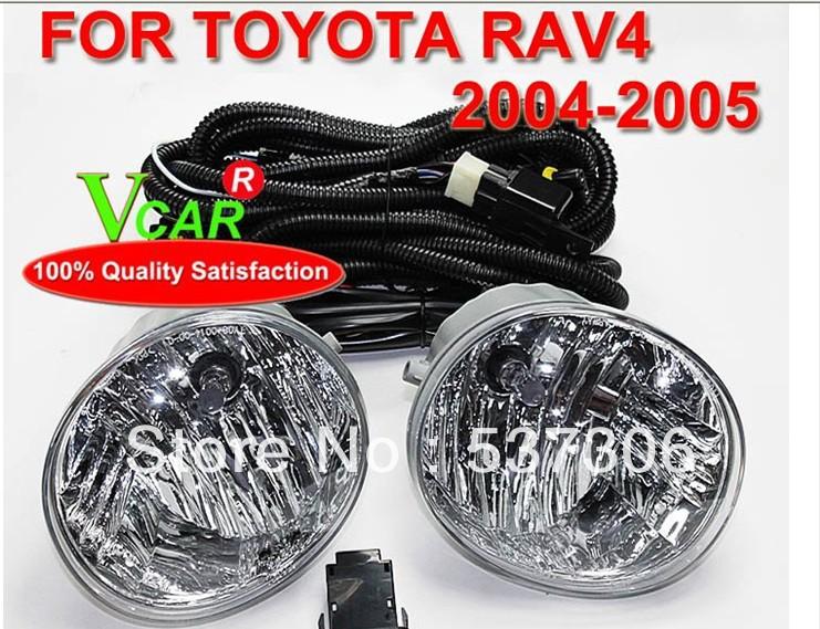 Free ship!ToyTOYOTA RAV4 2004 to 2005 55W12V fog light,2pcs/SET(1pcs Left+1pcs Right+wire of harness),4300K, quality<br><br>Aliexpress