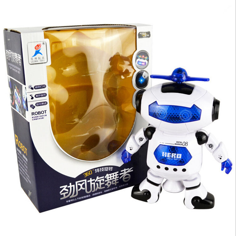 Electric Dance Music Space Robot Model Toy Hot Selling Creative Children's Toy Puzzle Educational Toy Give Kid Gift 6309101(China (Mainland))