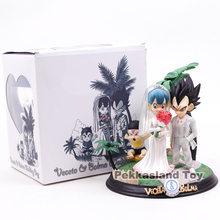 Anime dragon ball z vegeta & bulma bebê troncos dia do casamento vegeta figura da família modelo brinquedos 22cm(China)