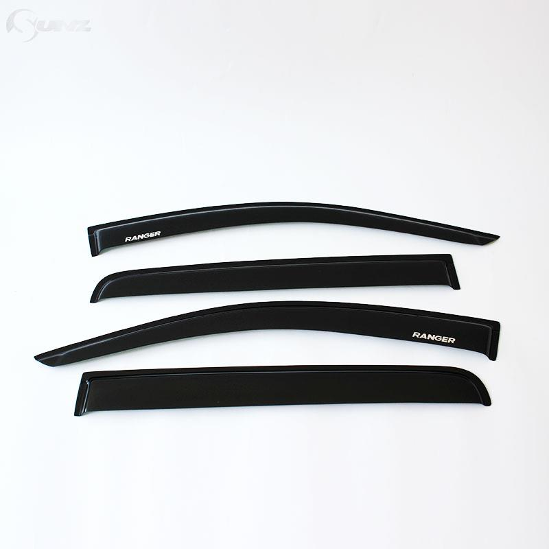 side window deflectors ford ranger abs black color car wind deflector guard T6 2012-2014 vent door visor - Ycsunz Store store