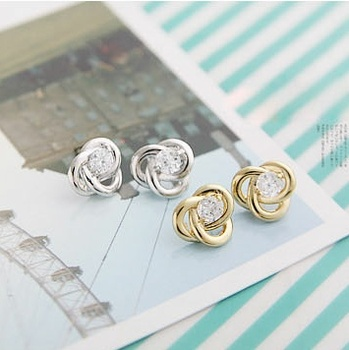 Earring fashion vintage small elegant lines sparkling stud earring earrings