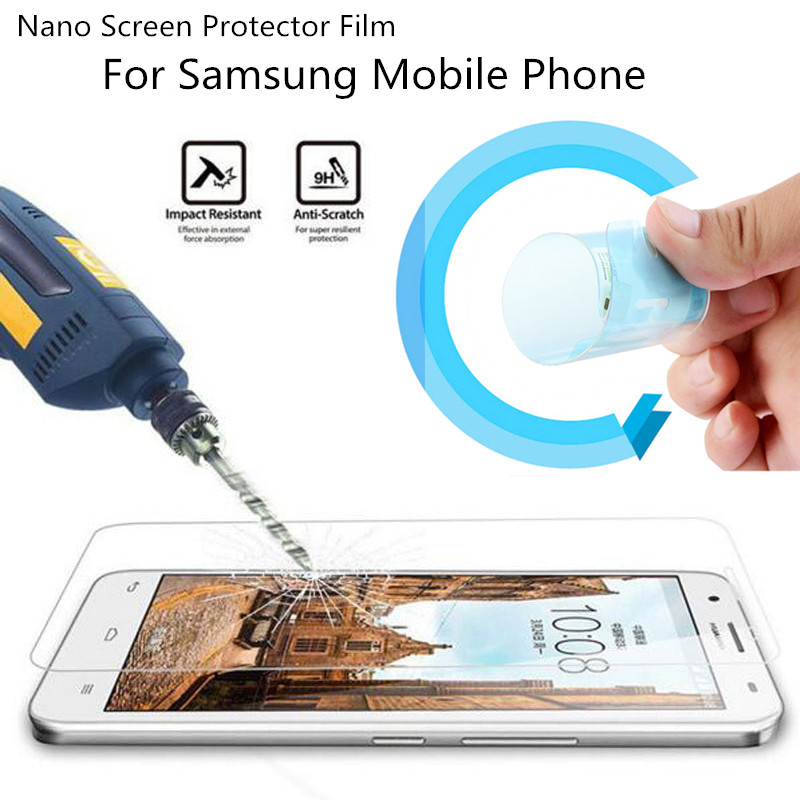2016 Explosion-proof Nano Screen Protector Film Samsung Galaxy Note3 4 5 S3 S4 S5 S6 S7 Edge Tempered Glass