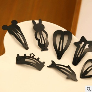5 pcs/lot cute black children hairpin different styles and shapes hair grip beautiful kids hair accessories free shipping(China (Mainland))