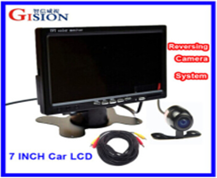 "Rear View camera Free shipping 7"" LCD Monitor Car Rear View Kit ,1CH/2ing System for Truck,Bus,School Bus.DC 12V Input.(China (Mainland))"