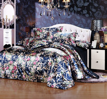 2016 Summer Queen/King Tencel Silk Bedding Set Mulberry Silk Printing Bedding Article(China (Mainland))