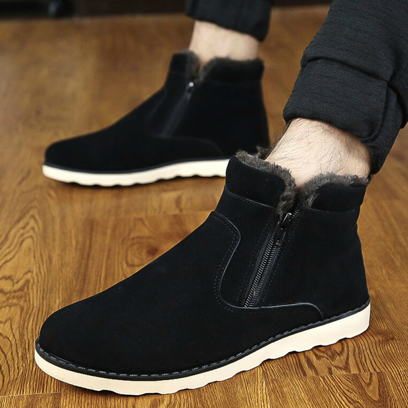 2015 winter snow boots Korean version trend men's casual shoes warm waterproof ankle boot