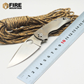 BMT C41TIF Folding Blade Knife CPM S35VN Blade Fluted Titanium Handle Tactical Knife Outdoor Survival Camping