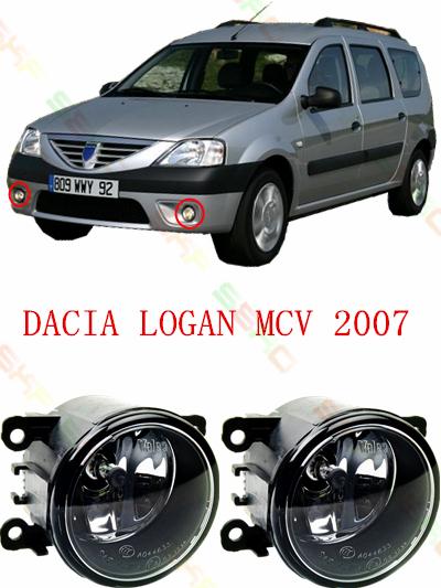 For dacia logan mcv 2007 Front bumper light Original Fog Lights Halogen car styling 1 set (Left + right) 35500-63J02(China (Mainland))