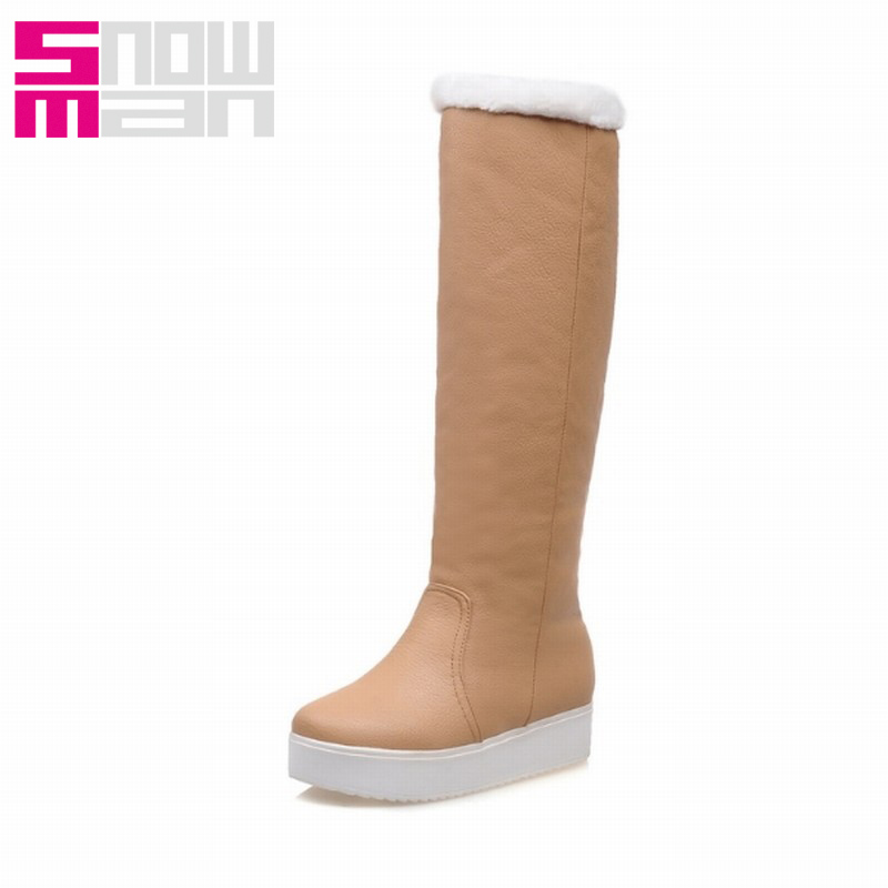Consize Knee High Snow Boots for Women Thick Sole Snow Shoes Woman Platform Shoes Warm Winter Boots 2015 Brand Winter Shoes
