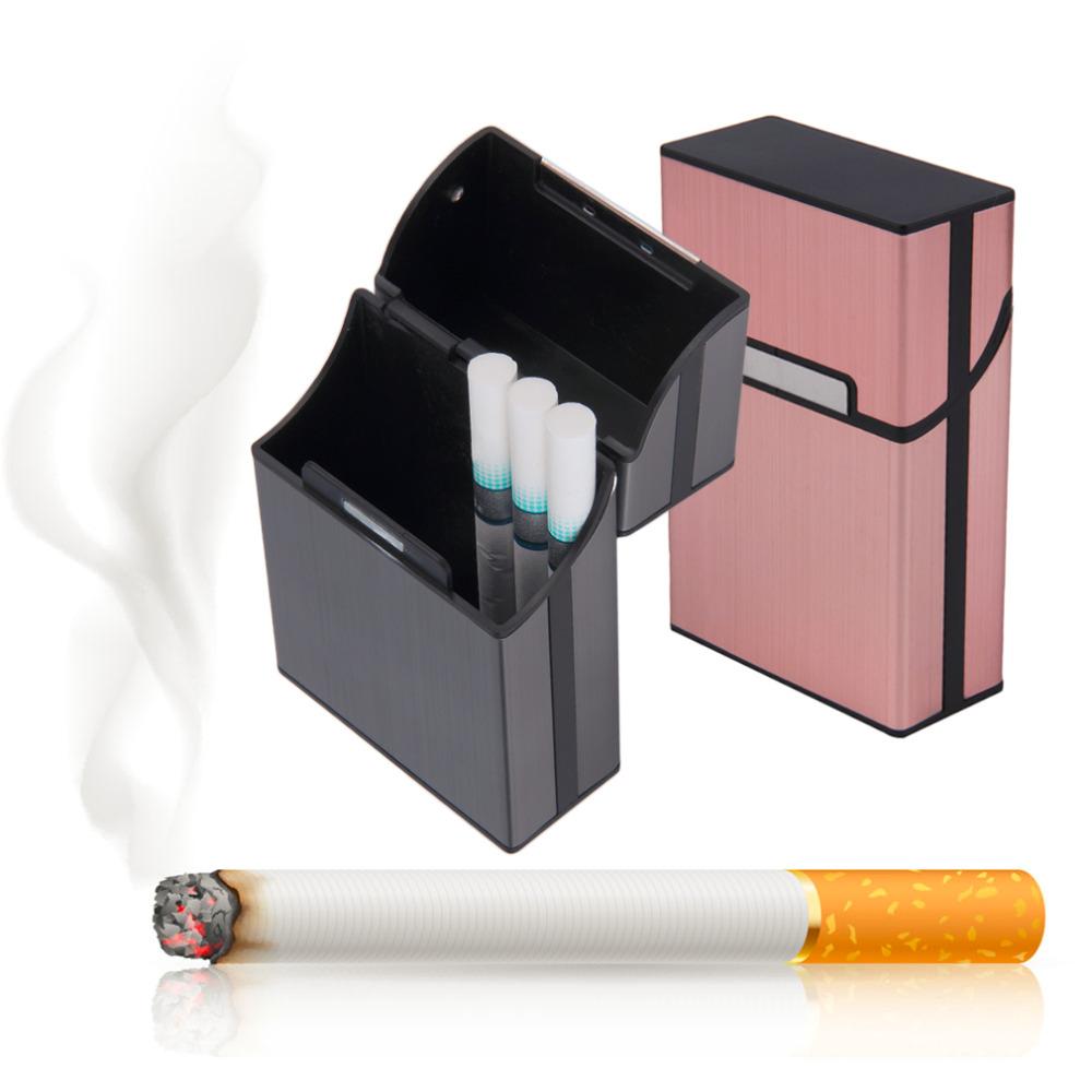 1pcs Light Aluminum Cigar Cigarette Case Tobacco Holder Pocket Box Storage Container New(China (Mainland))