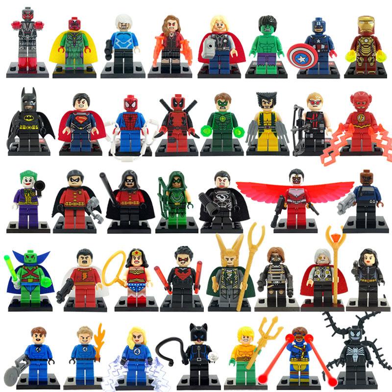 Marvel DC Super Hero Minifigures 38pcs lot Classic Building Blocks Sets Model Bricks Toys For Children