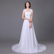Buy 2017 Stock Vestido De Noiva White/Ivory Applique Cap Sleeve Lace Beach Wedding Dress Robe De Mariage Vestido De Casamento for $54.45 in AliExpress store