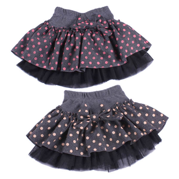 Kids Girls Cotton Many-Dot Woolen Bowknot Skirts Cute Princess Skirts Size 2-7YDrop&amp;FreeShipping<br><br>Aliexpress