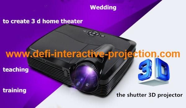 "Best Full HD DLP Led 3D Projector 4500 Lumens Video Digital Beamer Projektor Proyector High Brightness Project 350"" screen(China (Mainland))"