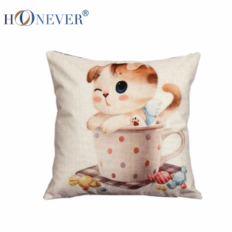 Kitty Throw Pillow : Cat In Kitchen Cushion Cover Throw Pillow Kooshen for Cushions Online