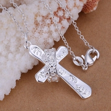 Buy Free fashion jewelry Necklace pendants Chains, 925 jewelry silver plated necklace Crown cross pendant fonp yagn for $1.24 in AliExpress store