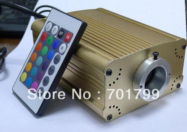 16w LED RGB fiber optic illuminator,with 24key IR remote controller;AC100-240V input