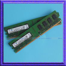 Samsung 4G 2x2GB PC2-6400 DDR2 800 800Mhz 240pin DIMM Desktop Memory Low Density 4G RAM Upgrade Free Shipping
