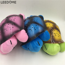Musical Turtle Led Night Light Sky Star Novelty Lamp Children Toy Song Music Lighting Baby Sleep Light In Pink Yellow Green Blue(China (Mainland))