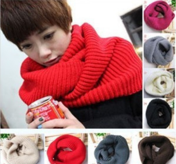 Unisex Winter knitting Wool Collar Neck Warmer woman Ring Scarf Shawl Scarves(China (Mainland))