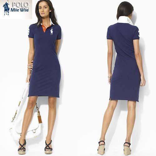Hit color collar women clothing cotton summer dress short sleeve brand Tennis Dress casual sport dress women free shipping(China (Mainland))