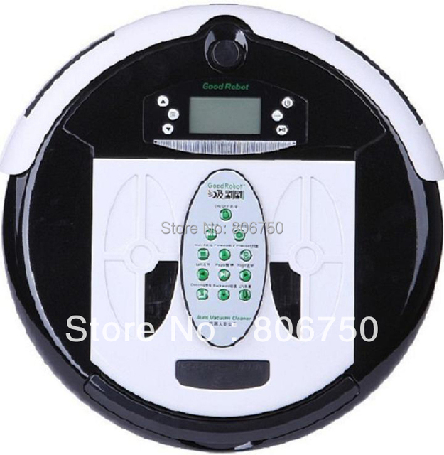 (Free to Russian Buyer) 4 In 1 Multifunctional WET&DRY Robot Vacuum Cleaner Larger Dustbin 0.7L,Time Set,Auto Charging,UV light