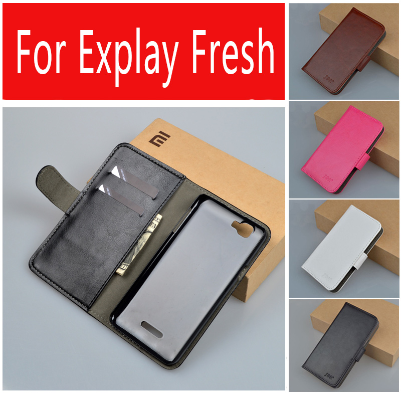 Luxury Vintage PU Leather Wallet Stand case For Explay Fresh Cover Phone Bag with Card holder J&R Brand 9 colors(China (Mainland))