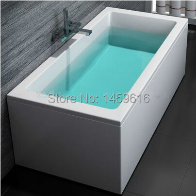 **  Free shipping sea freight freestanding bathtub and acrylic +ABS composite board soaking tub W8034 **<br><br>Aliexpress