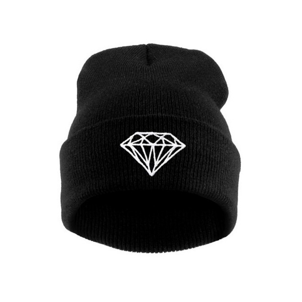 New Hip-Hop Men's Men Women Unisex cap With Diamond Pattern Beanies Winter Cotton knit wool Hats(China (Mainland))