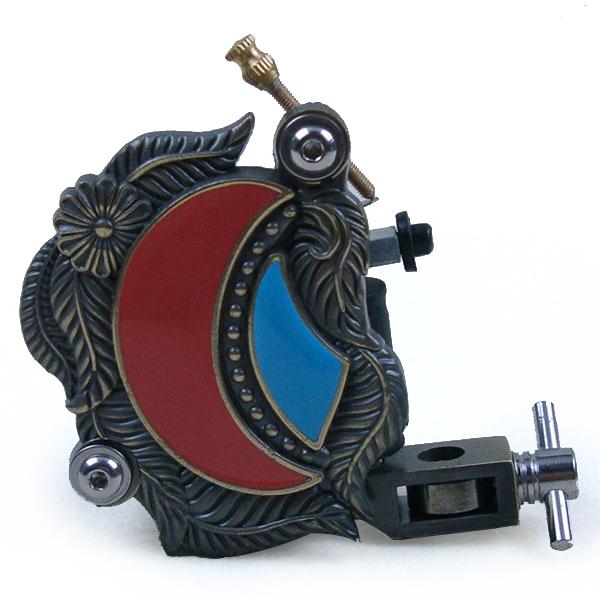 Electric tattoo gun Winding Zinc alloy tattoo motor Scorpion 8 Wrap Coil Dual-coiled Tattoo Machine Shader Liner - White/blue(China (Mainland))