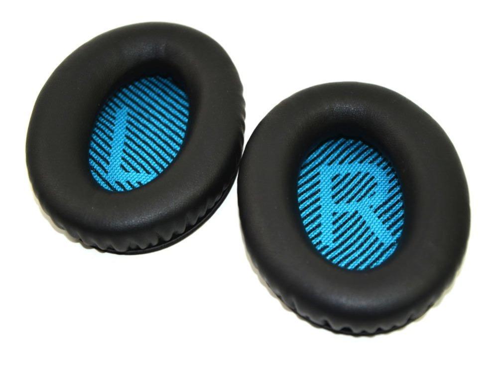 NSEN Replacement Ear pads Earpads Cushion for BOSEQC15 QC2 QC15 QC25 AE2 AE2I AE2W Headphones-Black