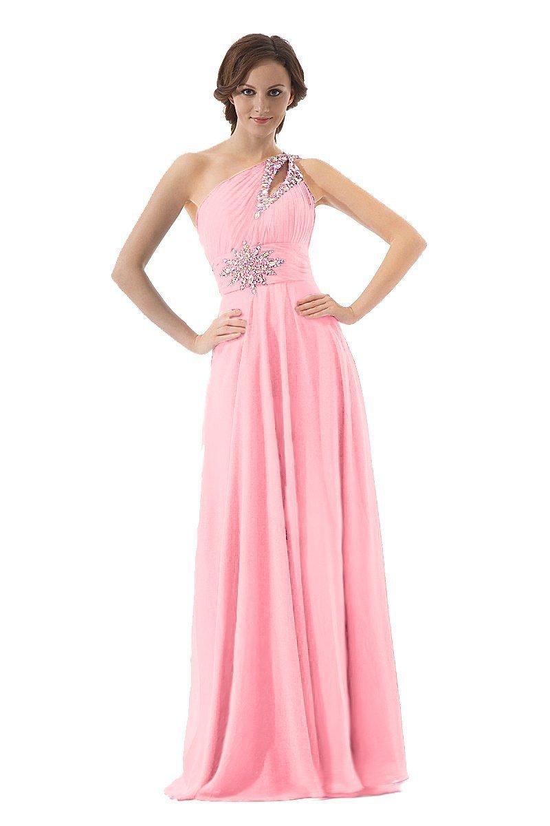 0040 royal blue pink dark green one shoulder beadings for Plus size one shoulder wedding dress