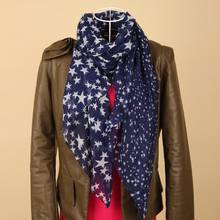 Five-pointed star print women's scarf bali yarn autumn and winter scarf