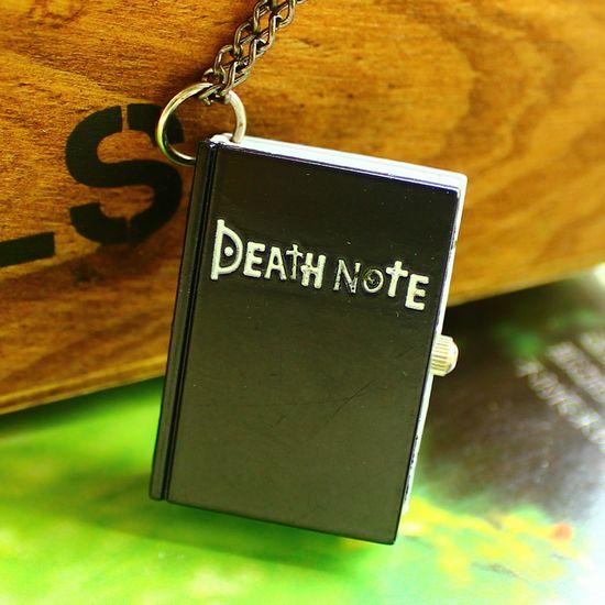 Cartoon pocket watch vintage child male women's death note anime necklace pocket watch