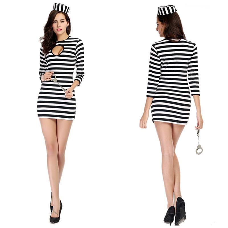 Halloween Costume Black And White Stripes Black And White Striped Bag
