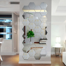 Buy 2016 Hot Hexagonal 3D Mirrors Wall Stickers Home Decor Living Room DIY Modern Art Mirror Wall Mural Decoration Vinyl Sticker for $1.47 in AliExpress store